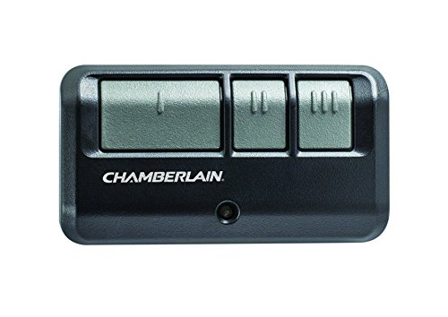 Chamberlain / LiftMaster / Craftsman 953EV-P2 3-Button Garage Door Opener Remote, Security +2.0 Compatible, Includes Visor (Universal Garage Remote)