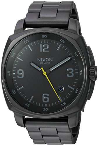Nixon Men's 'Charger' Quartz Metal and Stainless Steel Watch, Color:Grey (Model: A1072632-00) ()