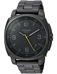 Nixon Mens Charger Quartz Metal and Stainless Steel Watch, Color:Grey (Model: A1072632-00)