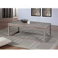 Studio Dove Grey Finish Rustic Wood Coffee Table Tea Table