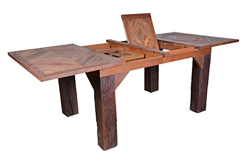 Groovy Stuff GROOVYSTUFF TF-0578-D Dropleaf Ranch House Double Drop Leaf Dinner Table (Stuff Groovy)