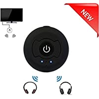 [Limit time Deal]New eranton Portable TV Bluetooth 4.0 A2dp Audio srereo Transmitter RCA/3.5mm Support Pairing Two Headsets Simultaneously for TV PC CD Player Kindle Fire Ipod Mp3/mp4 Etc