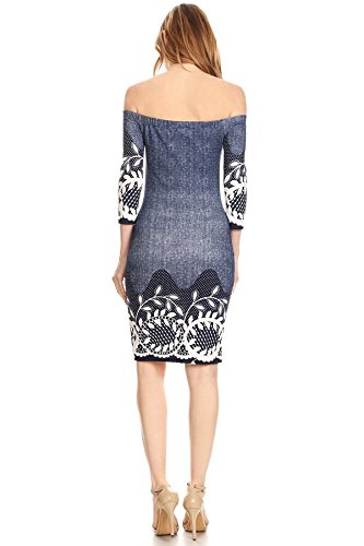 Damen Kleid Blau barbarella Casual Claire Blau 6TBdzq0w