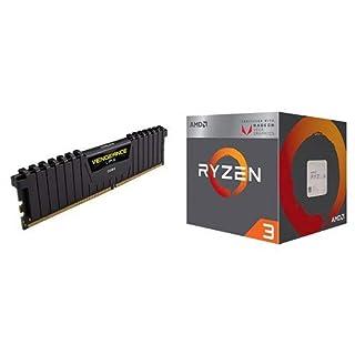 CORSAIR Vengeance LPX 8GB (1 x 8GB) DDR4 DRAM 2400MHz C16 (PC4-19200) Memory Kit - Black (CMK8GX4M1A2400C16) and AMD Ryzen 3 2200G Processor with Radeon Vega 8 Graphics (B07HX8MG4M) | Amazon price tracker / tracking, Amazon price history charts, Amazon price watches, Amazon price drop alerts