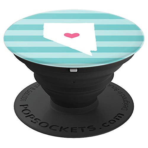 Nevada Heart | Cute Home State Map Silhouette - PopSockets Grip and Stand for Phones and Tablets