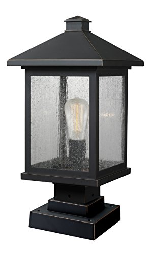 (Z-Lite 531PHBS-SQPM-ORB 1 Outdoor Pier Mount Light, Oil Rubbed Bronze )