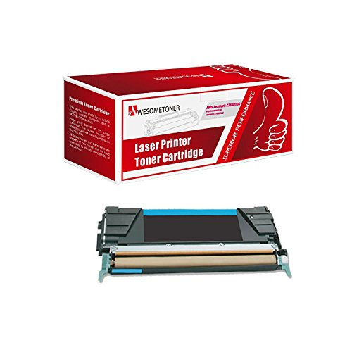 Awesometoner Remanufactured 1 Pack C748H1CG C748 Toner Made in USA For Lexmark C748DE C748DTE C748E High Yield 10000 Pages