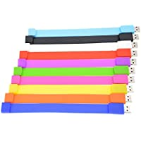 FEBNISCTE 10pcs 2GB USB 2.0 Flash Drive Multi-Coloured Wrist Bracelet Thumb Stick