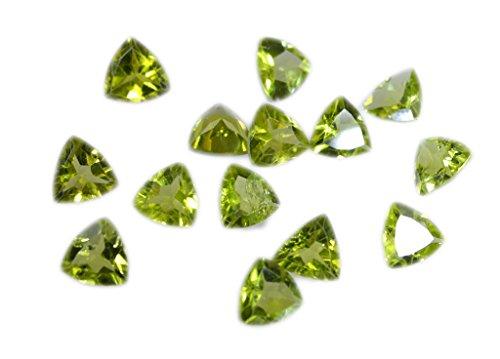 pierres précieuses en vrac peridote 1 pièces 4 x 4 mm trillions verte pierres précieuses facettes