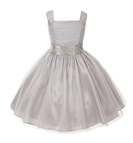 Cinderella Couture Big Girls' Sparkling Rhinestone Party Dress 8 Silver 1195 from Cinderella Couture