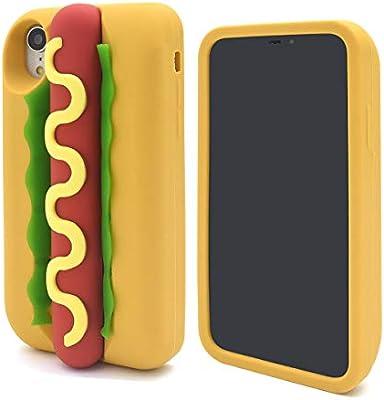 cfd83b48fa PLATA iPhoneXR おもしろ シリコンケース ホットドッグ 手触り抜群 背面保護 iPhoneケース アイフォンケース