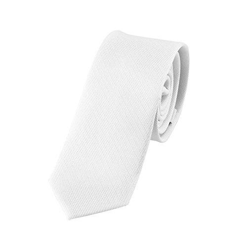DonDon 2 Men's handmade narrow Tie slim White y4OacaWr1