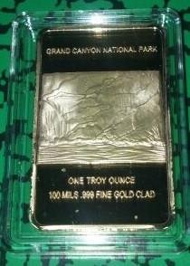 Grand Canyon American Bald Eagle Gold Plated Challenge Art ()