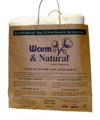 Warm Company Batting 120-Inch by 124-Inch Warm and Natural Cotton Batting, King by Warm Company Batting