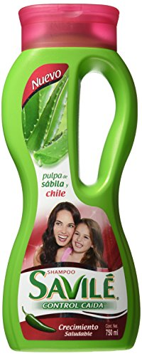 Savile Shampoo with Aloe Pulp and Chile Extract/ Shampoo Con Pulpa De Sabila Y Extracto De (Aloe Pulp)