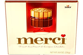Amazon.com : Merci Finest Assortment of European Chocolates 8.8oz ...
