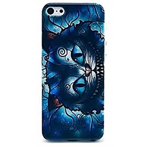 TOPQQ Blue Cat Face Transverse Pattern Case for iPhone 6