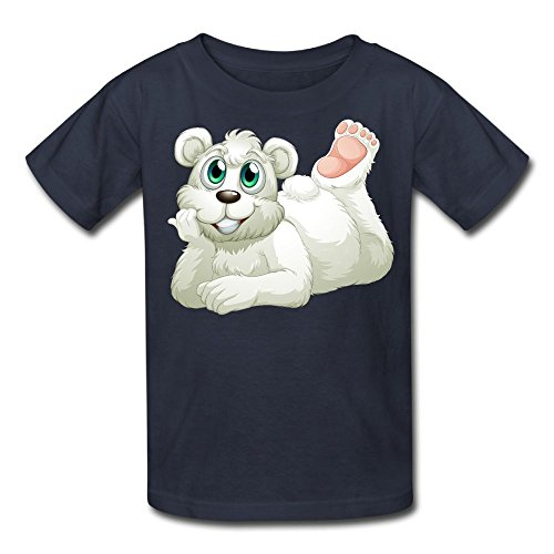 Printers Inkjet Wholesale (Cute Polar Bear Custom Cotton Child Fashion Tees Short Sleeve Top Navy M)