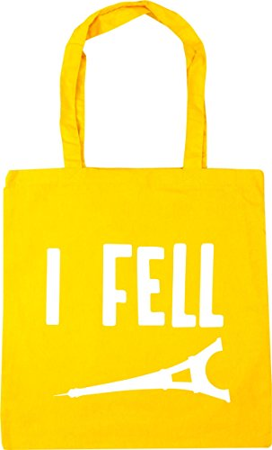 Beach x38cm Bag Shopping Gym litres tower fell Tote I 42cm 10 Yellow HippoWarehouse USnx6zYR