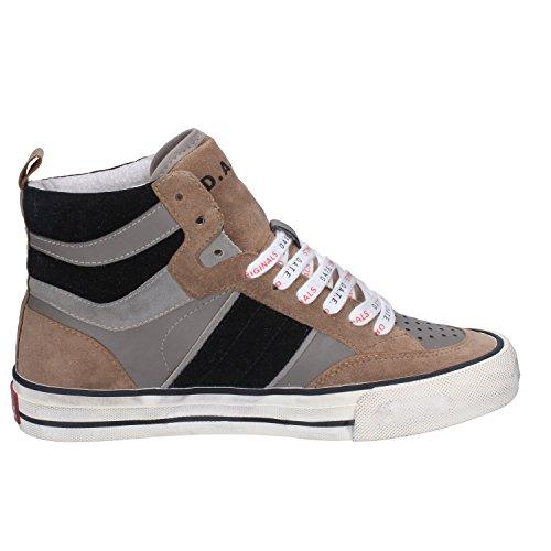 Sneakers T D 37 Fashion Leather US EU Gray Woman 7 E Brown A 4wxx85qrI