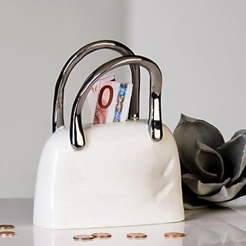 dd8558f77eacc Casablanca Spardose Handtasche Tasche weiß silber 96907 Winterprospekt 2013