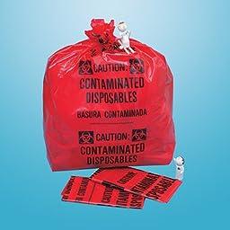 DSS Biohazard Bag - Extra Large, 33 Gallon, 20 x 39 x 12-1/4