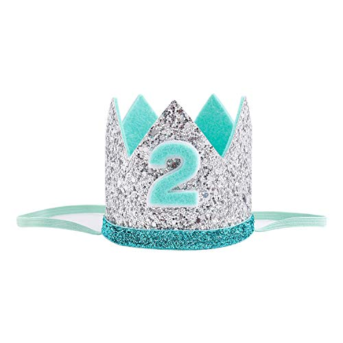 Birthday Crown Kids Golden Blue 1st Birthday Boy Outfit for Cake Smash Sparkle Royal Birthday Party Hat