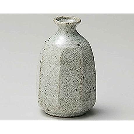 Grey Glaze Octagon 2 8inch Set Of 10 Sake Carafes Grey Ceramic Made In Japan
