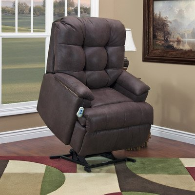 5600 Series Wall-a-Way Reclining Lift Chair Upholstery: Bonded Leather I - Navy, Moveable Infrared Heat: No, Vibration and Heat: None (Series 5600 Wall)