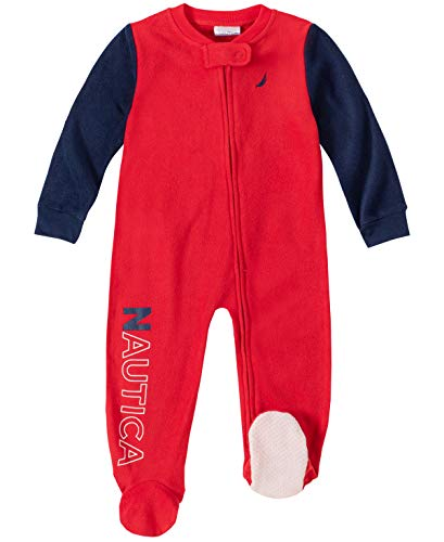 Nautica Baby Boys Blanket Sleeper, Red/Navy, 6-9 Months (Nautica Newborn Boy Clothes)