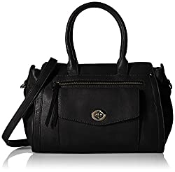 MG Collection Designer Mini Tote Satchel Bag, Black, One Size