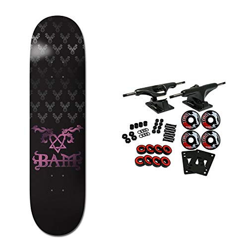 Element Skateboards Compete Bam Heartagram Black 8.0