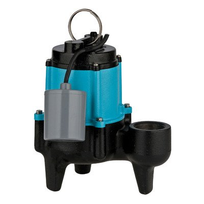 Little Giant Outdoor Living 511326 1/2 HP 10SN-CIA-RF Manual Sewage Pump with 20' Power cord, 3