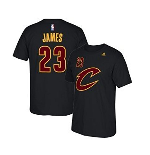 Lebron James Cleveland Cavaliers Black Alternate Name And Number Short Sleeve T Shirt Large