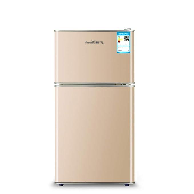 refrigerador de Doble Puerta, congelador, pequeño, 58L, Ahorro de ...