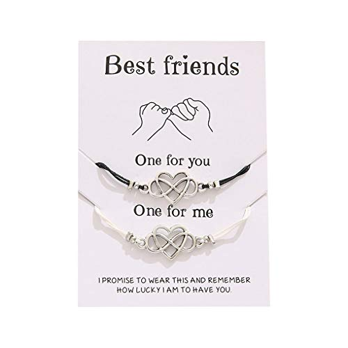 ComMune Pinky Promise Distance Matching Bracelets for Mother Daughter Best Friends Him and Her