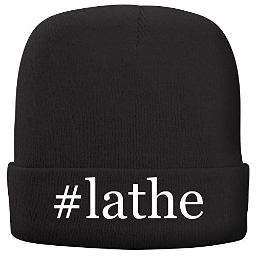 BH Cool Designs #Lathe - Adult Hashtag Comfortable Fleece Lined Beanie, Black