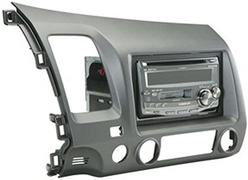 Scosche HA1561DGB Single or Double Din Installation Dash Kit for 2006-UP Honda Civic (Gray) ()