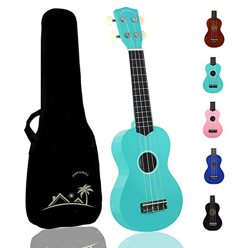 POMAIKAI Soprano Wood Ukulele Rainbow Starter Uke Hawaii kids Guitar