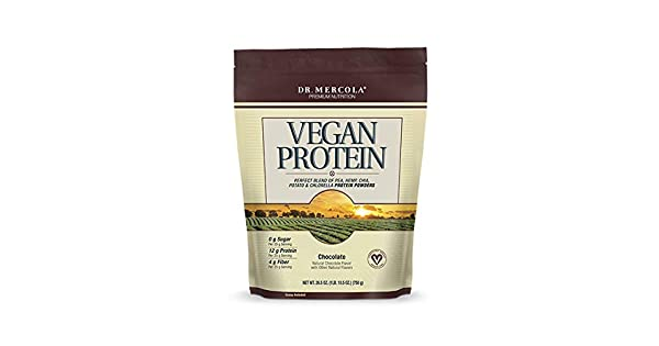 Amazon.com: Dr. Mercola Vegan Protein Chocolate – Mezcla ...
