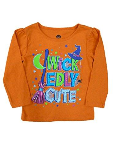 Happy Halloween Infant Toddler Girl Wickedly Cute T-shirt Glittery Tee Shirt (Walmart Halloween Shirts)