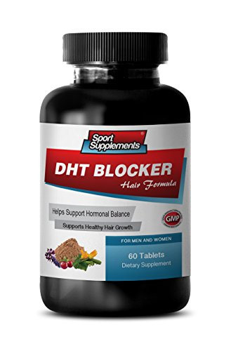 hair growth products dht DHT BLOCKER HAIR FORMULA - SUPPORT HEALTHY HAIR GROWTH - zinc for hair loss - 1 Bottle 60 Coated Tablets