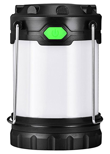 Antowin LED Camping Lantern with 3 LED Modes(White, Warm, Mixture Light), Powered by AA or AAA Batteries for Camping, Fishing and Emergency (Battery Included, 100 lumens)