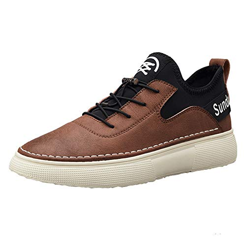 Liuxc Turnschuhe Microfiber PU beiläufige Muffin beschuht die Starke untere Schuhe der Männer beiläufige Sportschuhe der Schuhe