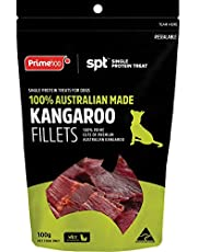 Dog Kangaroo Treats Single Meat Fillets | Prime100 SPT | 100% Australian Made.100%