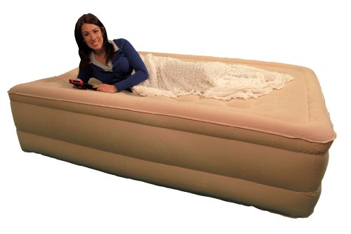 SimplySleeper FL-89Q Raised Inflatable Mattress w/ Flocked Top & Side Material - NEW! Built-in Auto-Stop Electric Pump and Sure Grip Bottom (Includes Travel bag and Repair Kit) by SimplySleeper (Image #7)