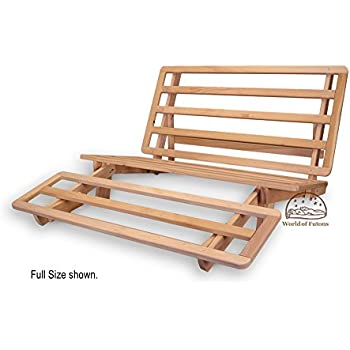 Amazon.com: Tri-fold Hardwood Futon Frame - Twin Size: Kitchen & Dining