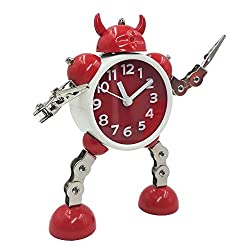 Hunter Garden Crafts Robot Alarm Clock With Flashing Eye And Movable limbs Hand Clips Best Gift For Children Kids