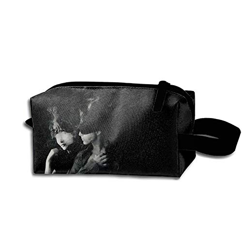 Black Design Toiletry Bag-Portable Travel Organizer Cosmetic Make Up Bag Case For Women Men Shaving Kit With Hanging Hook For - Bag Dunlop Mens
