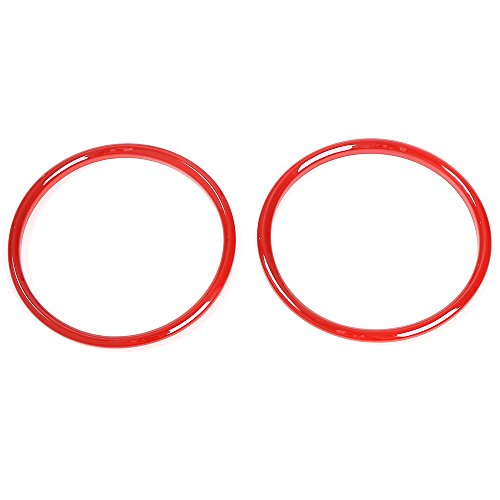 Ford Mustang Console (Dashboard Console Instrument Display Cover Ring for Ford Mustang 2015 2016 2017 Pair (Red))
